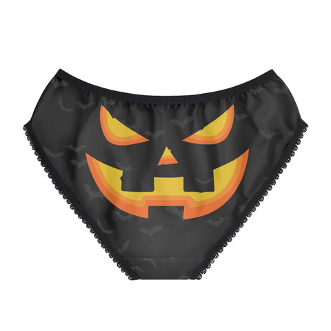 Halloween pumpkin face undies womens underwear sexy funny