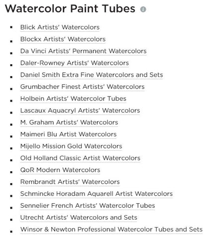 Last if you have not already, here's your chance to check out these useful watercolor paint supplies that you can get from Blick Art Materials today! Blick has tons of their bestselling professional level watercolor paints as well as watercolor paints for kids and students as well at various price range. Click on the images below and purchase today!