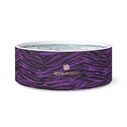 tiger striped custom dog bowl