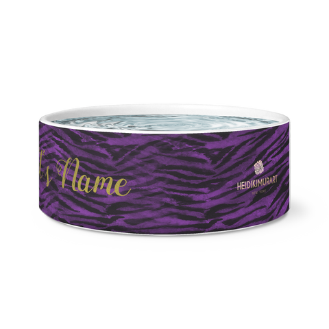 tiger stripe large dog custom pet bowl
