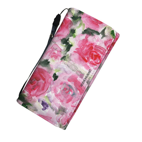 womens pink floral wallet