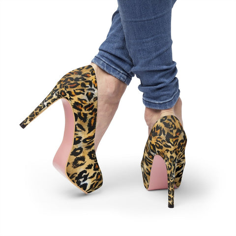 high heels womens platform heels leopard print shoes