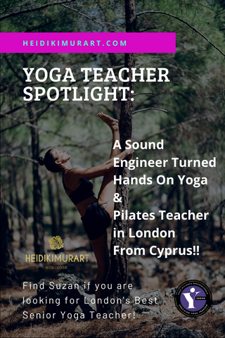 Yoga Teacher Spotlight of the Day! A Sound Engineer turned Hands On Yoga & Pilates Teacher in London From Cyprus!! Find Suzan if you are looking for London's Best Senior Yoga Teacher!