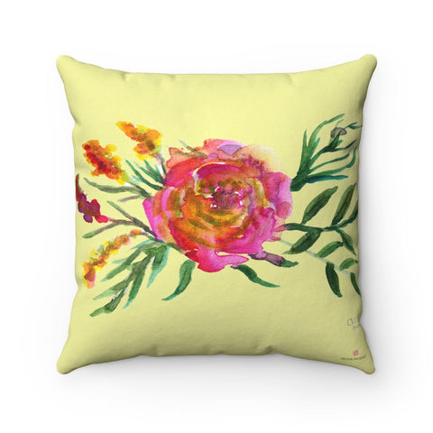 cute yellow floral pillow