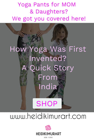 Yes, we do carry kid's yoga pants here.  We are getting a lot of inquiries about kid's yoga pants.  Kid's yoga are very popular right now.  Check out our new kid's yoga pants collections.  QUICK MOM'S TIPS:  Did you know that yoga was first introduced in India to calm the kid's down in the morning so the kid's will be able to focus better when they do their homework?  The same applies the same for adults. Yoga is about connecting the mind to your body and listening to what your body tells you. It increases your flexibility and yoga helps you to calm down your senses and be non-reactive to your surroundings.  Don't forget to treat yourself as well while you are taking caring of your kids. We do offer matching mom's yoga pants here as well. (You can mix and match your yoga pants with your kids)