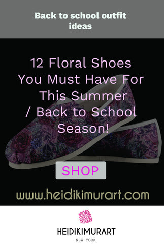 Are you looking for interesting back to school outfits? Check out our signature bestselling designer floral print shoes such as floral/ flower heels, floral sneakers, floral boots this summer and upgrade your wardrobe this summer.