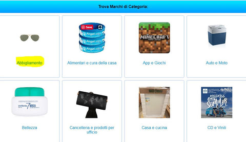 italian online  shopping website amazon affliate