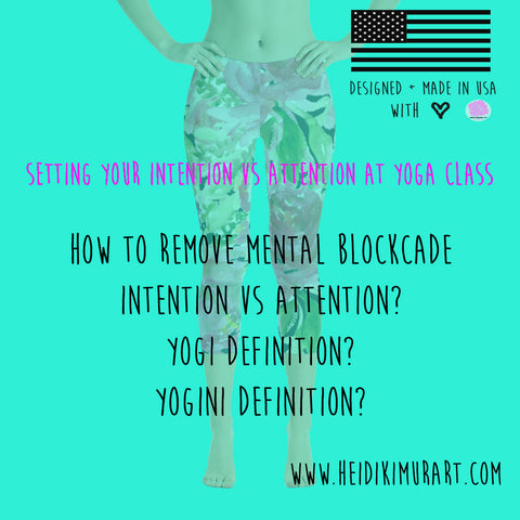 intention attention yoga definitions