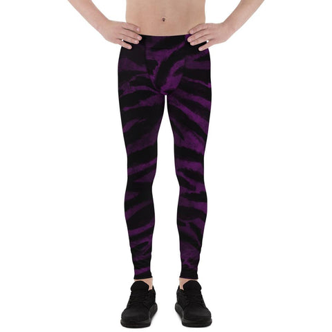 purple tiger stripe yoga pants mens leggings gay pride outfit tights running