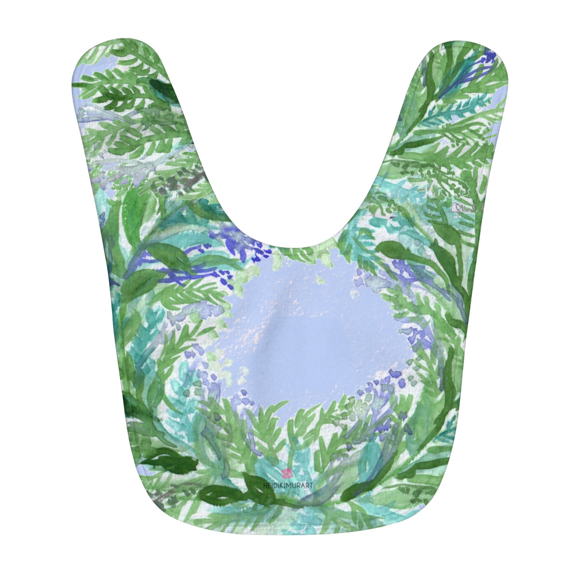 Peaceful Soft Lavender Floral Print Fleece Baby Bib - Designed and Made in USA-Baby Bib-One Size-Heidi Kimura Art LLC