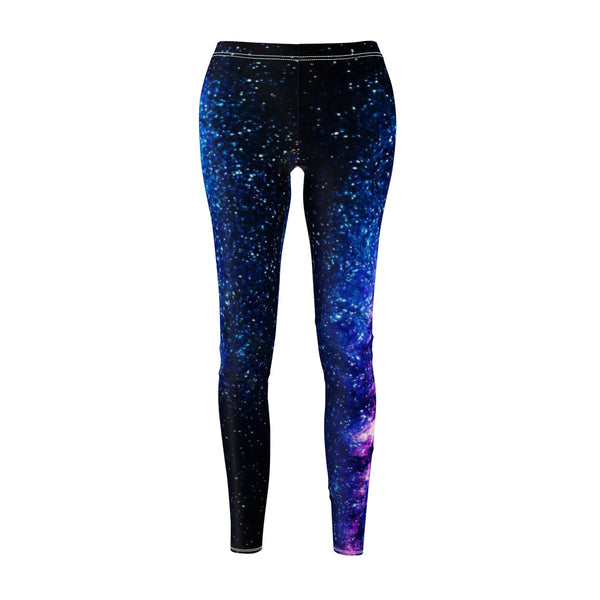 Galaxy Cosmos Space Purple Best Women's Casual Leggings, Made in USA(US Size: XS-2XL)-Casual Leggings-Heidi Kimura Art LLCGalaxy Cosmos Leggings, Galaxy Cosmos Space Purple Best Women's Fancy Dressy Cut & Sew Casual Leggings - Made in USA (US Size: XS-2XL) Galaxy Leggings, Galaxy Print Leggings, Space Tights, Galaxy Workout Leggings, Galaxy Leggings Outfit, Galaxy Leggings Plus Size, Galaxy Running Leggings