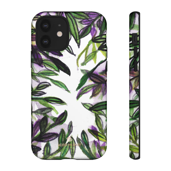 Tropical Leave Print Tough Cases, Designer Phone Case-Made in USA-Phone Case-Printify-iPhone 12-Glossy-Heidi Kimura Art LLC