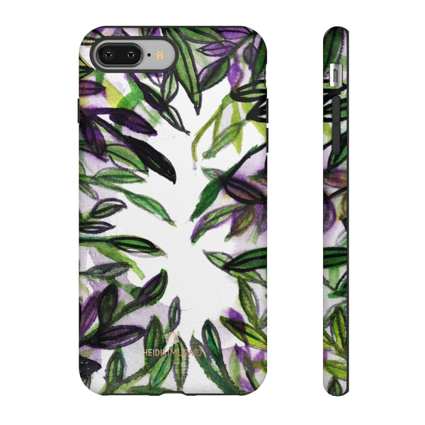Tropical Leave Print Tough Cases, Designer Phone Case-Made in USA-Phone Case-Printify-iPhone 8 Plus-Matte-Heidi Kimura Art LLC