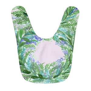 Light Pink Soft French Lavender Floral Print Fleece Baby Bib - Made in USA-Baby Bib-One Size-Heidi Kimura Art LLC