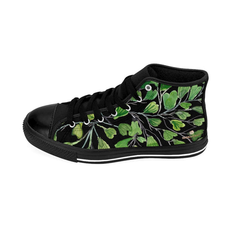 Black Green Maidenhair Men's Tennis Shoes, Tropical Print Designer Best High-top Sneakers For Men-Shoes-Printify-Heidi Kimura Art LLC Orange Green Maidenhair Men's Tennis Shoes, Tropical Print Designer Best High-top Sneakers For Men https://heidikimurart.com/products/orange-green-maidenhair-mens-tennis-shoes-tropical-print-designer-best-high-top-sneakers-for-men