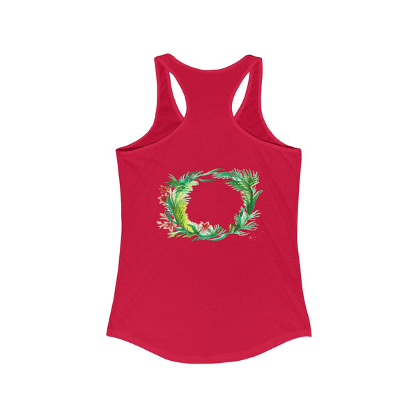Floral Wreath Designer Floral Women's Ideal Racerback Tank - Made in U.S.A.-Tank Top-Heidi Kimura Art LLC
