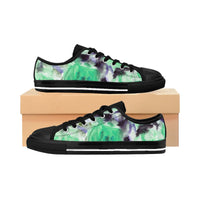 Mitsu Light Floral Print Designer Best Designer Women's Low Top Sneakers (US Size: 6-12) - Heidi Kimura Art LLC