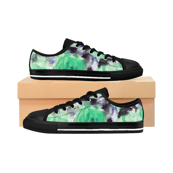 Light Floral Print Designer Best Designer Women's Low Top Sneakers (US Size: 6-12) - Heidi Kimura Art LLC