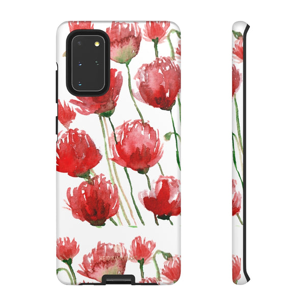 Red Tulips Floral Tough Cases, Roses Flower Print Best Designer Phone Case-Made in USA-Phone Case-Printify-Samsung Galaxy S20+-Matte-Heidi Kimura Art LLC