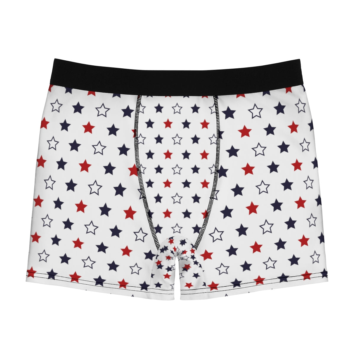 July Forth Independence Day Patriotic American Boy Men's Boxer Briefs-Men's Underwear-L-Black Seams-Heidi Kimura Art LLC