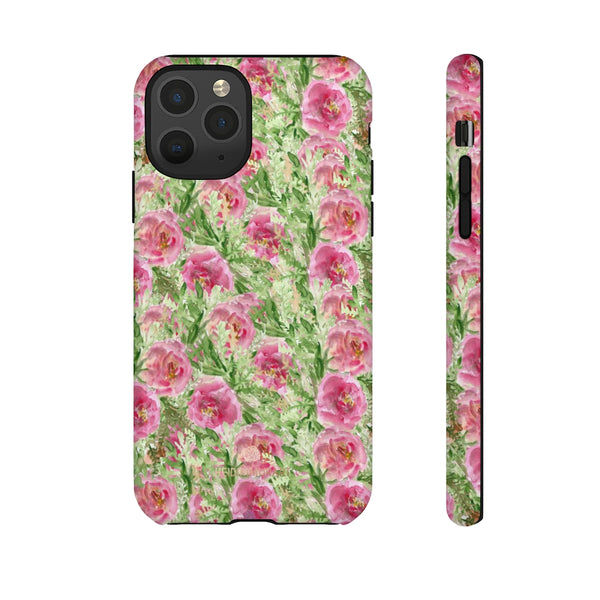 Garden Rose Phone Case, Roses Floral Print Tough Designer Phone Case -Made in USA-Phone Case-Printify-iPhone 11 Pro-Glossy-Heidi Kimura Art LLC
