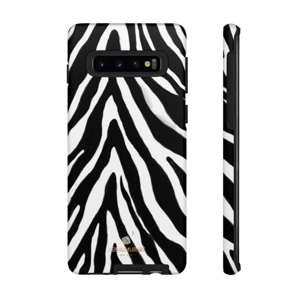 Zebra Stripe Phone Case, Animal Print Tough Designer Phone Case -Made in USA-Phone Case-Printify-Samsung Galaxy S10-Matte-Heidi Kimura Art LLC