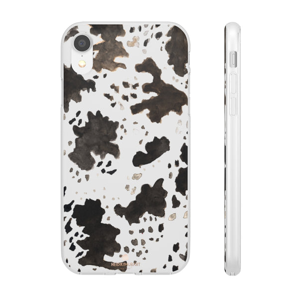 Cow Print Slim Flexible Wireless Charging Friendly iPhone Samsung Flexi Phone Cases-Phone Case-iPhone XR-Heidi Kimura Art LLC