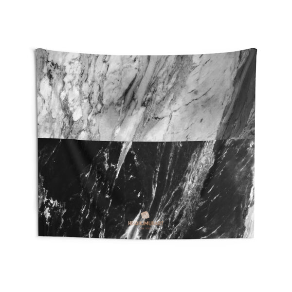 Copy of Grey Black Marble Print Designer Indoor Wall Tapestries- Made in USA-Home Decor-80x68-Heidi Kimura Art LLC