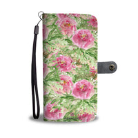 Girlie Floral Pink Rose Abstract Watercolor Print Designer Wallet Phone Case - Heidi Kimura Art LLC