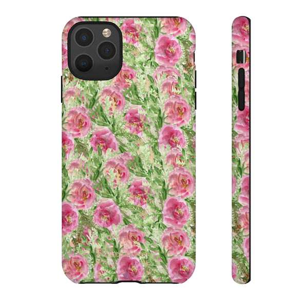 Garden Rose Phone Case, Roses Floral Print Tough Designer Phone Case -Made in USA-Phone Case-Printify-iPhone 11 Pro Max-Matte-Heidi Kimura Art LLC