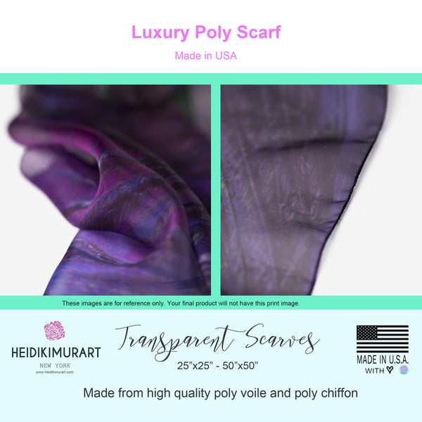 Red Poly Scarf, Solid Color Lightweight Sheer Luxury Fashion Accessories- Made in USA-Poly Scarf-Printify-MWW on Demand-Heidi Kimura Art LLC