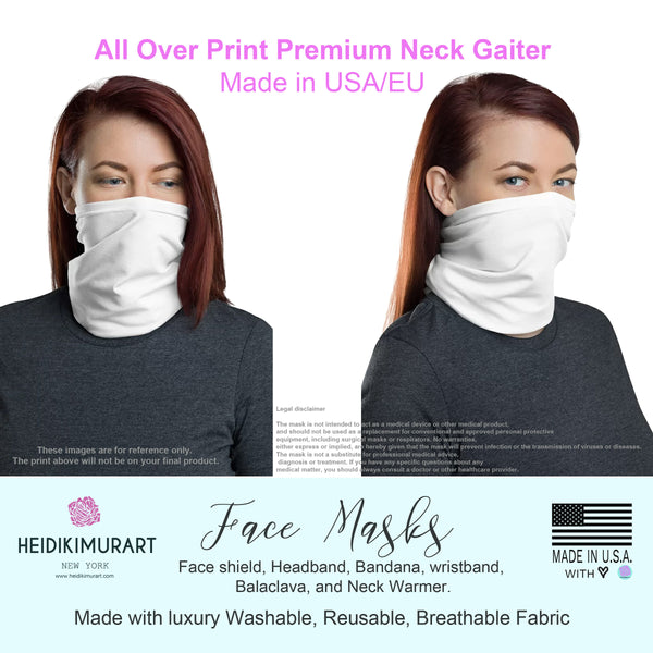 Peach Pink Lips Neck Gaiter, Washable Funny Unisex Face Mask Coverings-Made in USA/EU-Neck Gaiter-Printful-Heidi Kimura Art LLC
