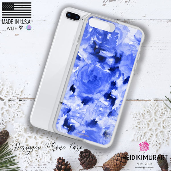 Sapphire Blue Floral Rose, iPhone X | XS | XR | XS Max | 8 | 8+ | 7| 7+ |6/6S | 6+/6S+ Case-Phone Case-iPhone 11-Heidi Kimura Art LLC Blue Floral Rose iPhone Case, Sapphire Blue Floral Rose, iPhone X | XS | XR | XS Max | 8 | 8+ | 7| 7+ |6/6S | 6+/6S+ Case- Made in USA/ EU