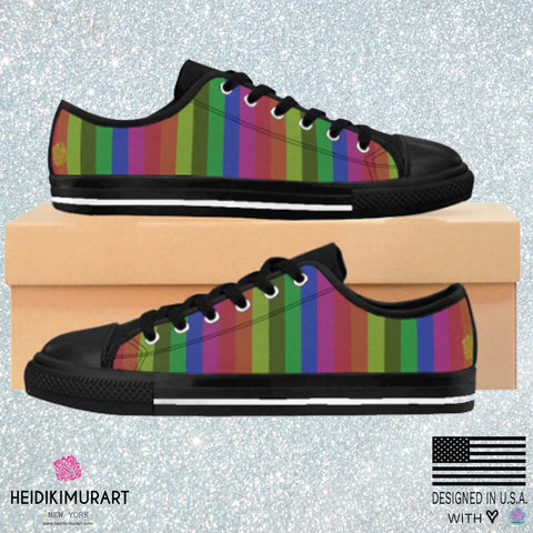 Faded Rainbow Stripe Gay Pride Women's Low Top Sneakers Running Shoes(US Size: 6-12)Gay Pride Rainbow Sneakers,Pride Shoes,Gay Pride Shoes , Colorful Shoes,Womens Sneakers,Fashion Sneakers Faded Rainbow Stripe Gay Pride Women's Low Top Sneakers Running Shoes(US Size: 6-12)