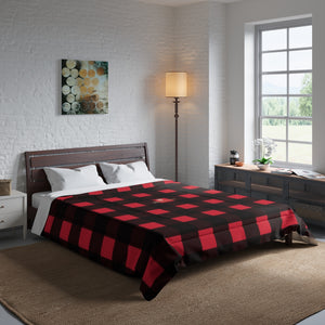 Red Buffalo Plaid Print Comforter For King/Queen/Full/Twin Bed,Plaid Comforter, Comforter, Buffalo Plaid, Plaid Blanket, Buffalo Red Blanket Red Buffalo Plaid Print Best Comforter For King/Queen/Full/Twin Bed - Made in USA