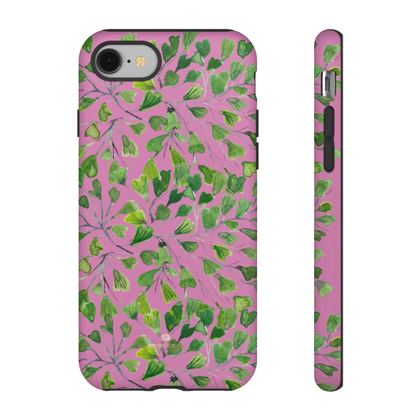 Blue Maidenhair Fern Tough Cases, Green Leaf Print Phone Case-Made in USA-Phone Case-Printify-iPhone 8-Matte-Heidi Kimura Art LLC