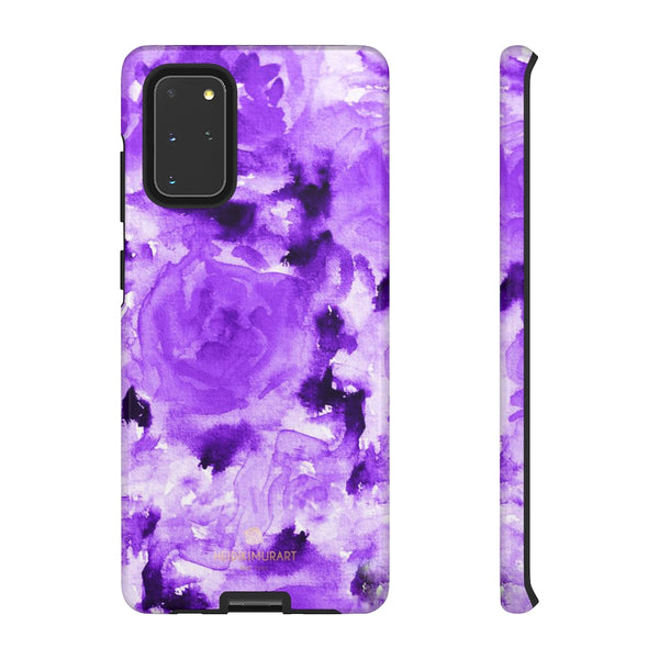 Purple Floral Rose Phone Case, Roses Floral Print Tough Designer Phone Case -Made in USA-Phone Case-Printify-Samsung Galaxy S20+-Glossy-Heidi Kimura Art LLC