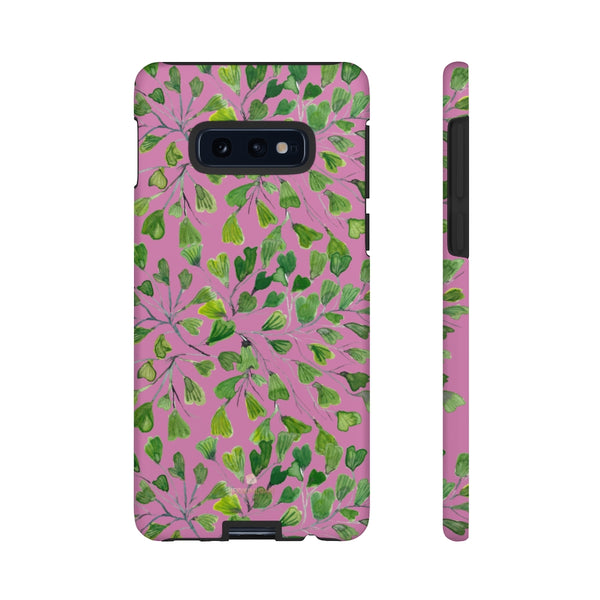 Blue Maidenhair Fern Tough Cases, Green Leaf Print Phone Case-Made in USA-Phone Case-Printify-Samsung Galaxy S10E-Matte-Heidi Kimura Art LLC