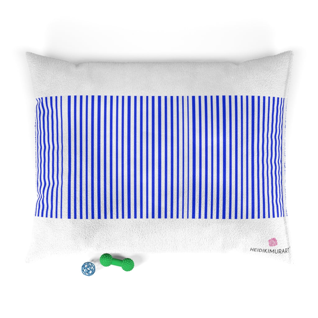 Blue Striped Pet Bed - Heidikimurart Limited