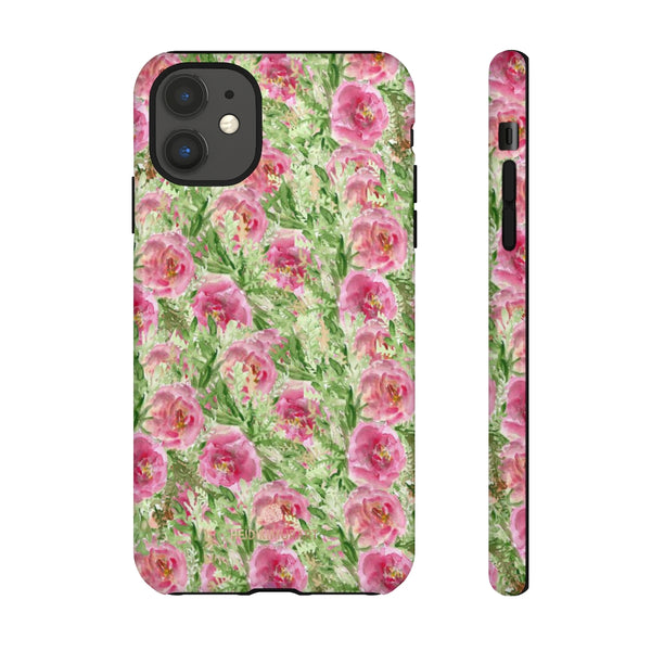 Garden Rose Phone Case, Roses Floral Print Tough Designer Phone Case -Made in USA-Phone Case-Printify-iPhone 11-Glossy-Heidi Kimura Art LLC
