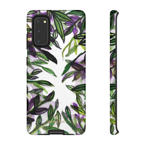 Tropical Leave Print Tough Cases, Designer Phone Case-Made in USA-Phone Case-Printify-Samsung Galaxy S20-Glossy-Heidi Kimura Art LLC