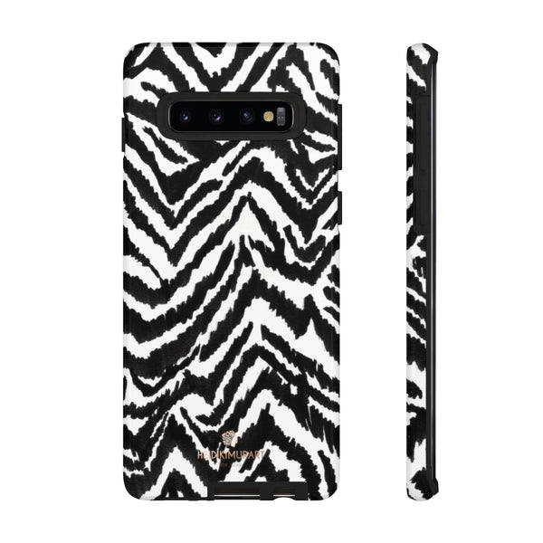 White Tiger Stripe Phone Case, Animal Print Best Tough Designer Phone Case -Made in USA-Phone Case-Printify-Samsung Galaxy S10-Glossy-Heidi Kimura Art LLC
