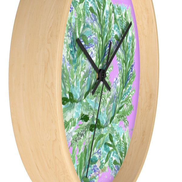 Girlie Soft Purple Pink French Lavender Indoor 10 in. Dia. Wall Clock - Made in USA-Wall Clock-Heidi Kimura Art LLC
