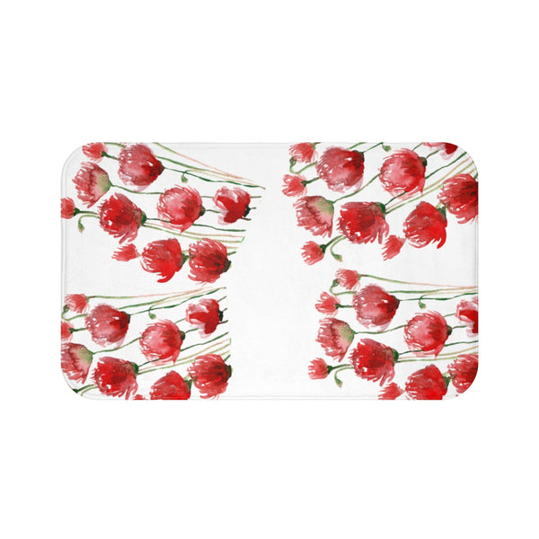 Aia Famous Home Ruler Red Poppy Flower Bath Mat Aia Famous Home Ruler Red Poppy Flower Best Designer Bath Mat - Made in the U.S.A.