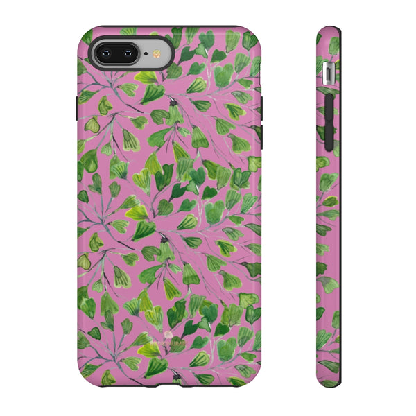 Blue Maidenhair Fern Tough Cases, Green Leaf Print Phone Case-Made in USA-Phone Case-Printify-iPhone 8 Plus-Glossy-Heidi Kimura Art LLC