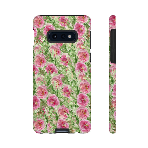 Garden Rose Phone Case, Roses Floral Print Tough Designer Phone Case -Made in USA-Phone Case-Printify-Samsung Galaxy S10E-Glossy-Heidi Kimura Art LLC
