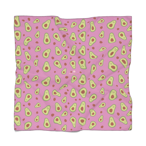 "Avocado Print Poly Scarf, Vegan Inspired Lightweight Fashion Accessories- Made in USA-Accessories-Printify-Poly Voile-25 x 25 in-Heidi Kimura Art LLC Avocado Print Poly Scarf, Vegan Inspired Lightweight Poly Voile or Poly Chiffon 25""x25"" or 50""x50"" Luxury Designer Fashion Accessories- Made in USA, Polyester Scarf"