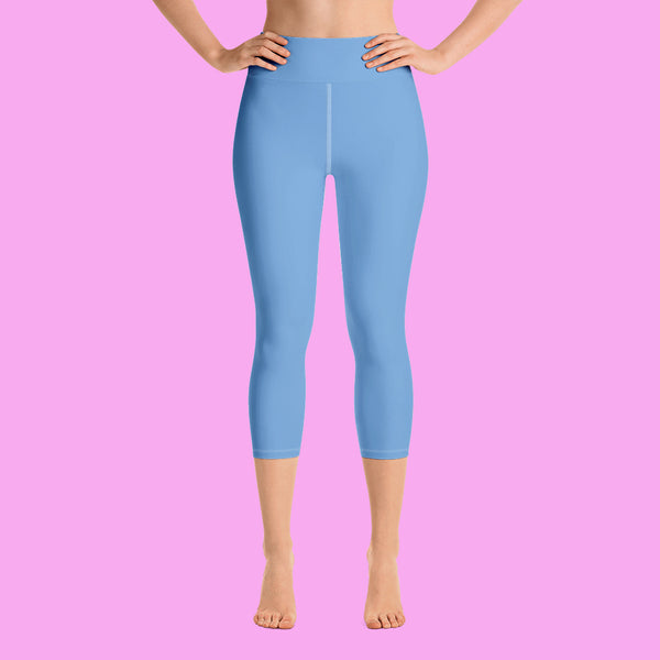Baby Blue Premium Bridesmaid Yoga Capri Leggings - Made in USA, Wedding Leggings,Bride To Be, Bridal Pants, Workout Leggings, Bride Leggings, Bridesmaid Leggings, Bridal Shower, Bride To Be, Bridal Pants, Wedding Bride-To-Be Bridal Pants,Workout Leggings,Bridesmaid Gift For Her , Bridesmaid Gift, Printed Leggings, Bridesmaids Pajamas,Bridesmaid Leggings,Bridesmaid Pants,Bride Leggings,Team Bride, XS-XL