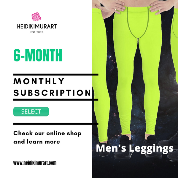 Monthly Premium Quality Men's leggings/ Meggings Subscription Plan Package For Our Special VIP Customers (3-month, 6-month, 1-year, 2-year, 3-year plans are available)