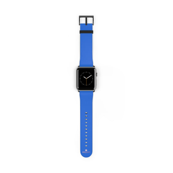 Blue Solid Color 38mm/42mm Watch Band Strap For Apple Watches- Made in USA-Watch Band-42 mm-Black Matte-Heidi Kimura Art LLC